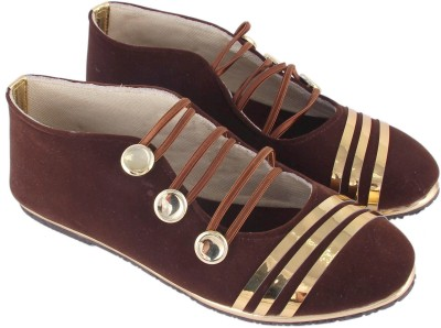 Stellar Collections Monk Strap For Women(Brown)