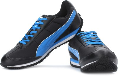 Puma Speeder Tetron II Sneakers For Men(Blue, Black)  available at flipkart for Rs.749