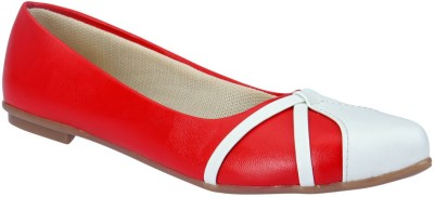 Party Girl Casual Bellies(Red, White) at flipkart