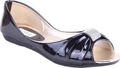 Goyal Black Open Toe Bellies For Women(Black)