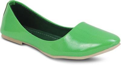 Get Glamr Designer Bellies(Green) at flipkart
