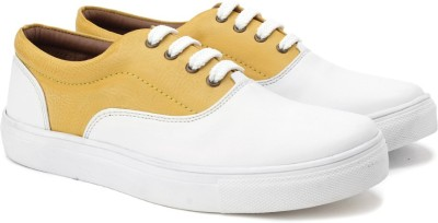 Knotty Derby Sneakers For Women(Yellow) at flipkart