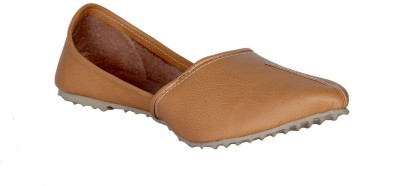 Panahi Camel Synthetic Leather Slip On Jutis Casuals For Men(Tan)