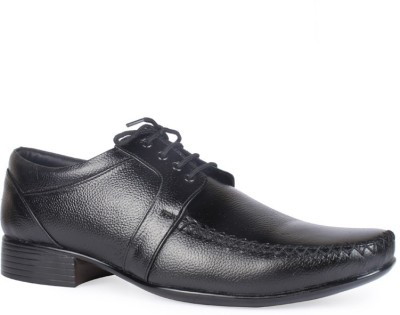 Leather King Nathan Black Lace Up For Men(Black)