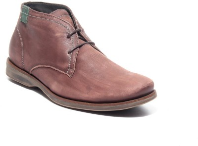 Pavers England Genuine Leather Boots For Men(Brown) at flipkart