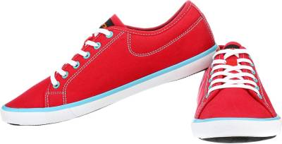 Sparx Awesome Red Canvas Shoes