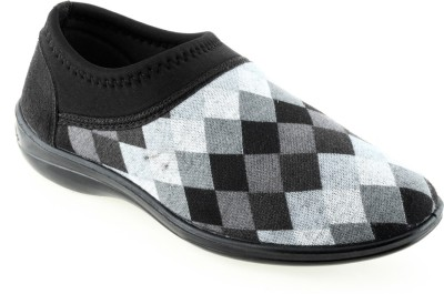 Lancer Casual Shoes For Women(Black, Grey)  available at flipkart for Rs.369