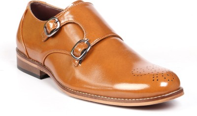 Bxxy Double Monk Strap Lifestyle Formal/Semi-Formal Monk Corporate Casuals For Men(Tan) at flipkart