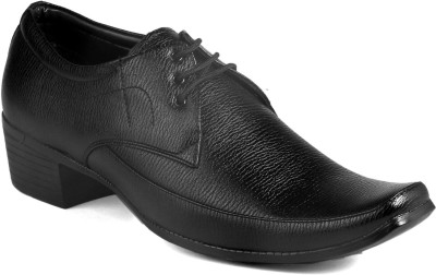 Bxxy Men's Black Height Increasing Formal Shoes Lace Up For Men(Black)  available at flipkart for Rs.799