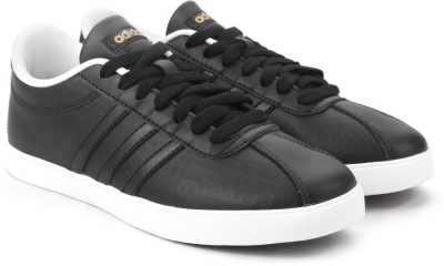 2d12d3fd63d7a2 35% OFF on ADIDAS NEO COURTSET W Sneakers For Women(Black) on Flipkart