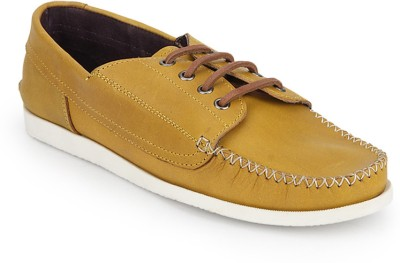 Arden Quody Pull Up Derby Casual Shoes For Men(Yellow)