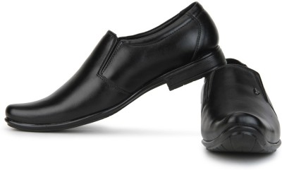 Provogue Leather Slip On shoes(Black) at flipkart
