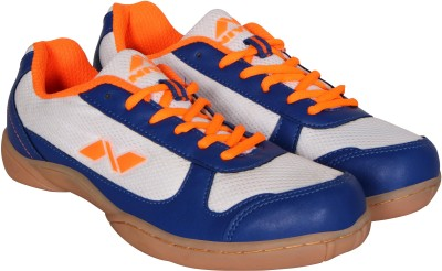Nivia Hoover Badminton Shoes(White, Blue) at flipkart