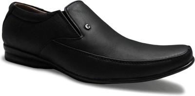 Candle Gold Geniun Slip On Shoes For Men(Black)