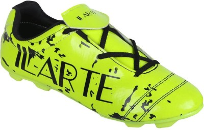 ILARTE Professional Football Studs Shoes PVC Material Solid Pattern Green Football Shoes For Men(Green)  available at flipkart for Rs.498