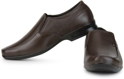 Provogue Leather Slip On Shoes(Brown) at flipkart