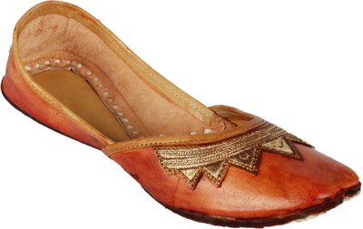 Tryfeet Leather Punjabi Mojaris(Brown)