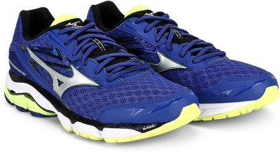 Mizuno Wave Inspire 12 Running Shoes For Men(Blue, Silver, Yellow) at flipkart