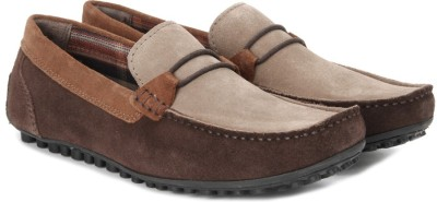 WROGN Genuine Leather Loafers(Brown) at flipkart