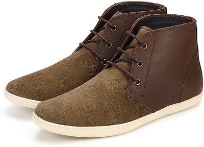 Arden Devon Two Tone Chukka Boots For Men(Olive, Brown)