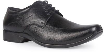 Leather King Sam Black Lace Up For Men(Black)
