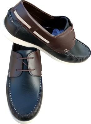 cce4a06272c 3 Wolves Boat Shoes For Men(Black)