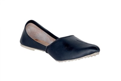 Panahi Black Synthetic Leather Slip On Jutis Casuals For Men(Black)