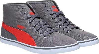 PUMA Elsu v2 Mid CV IDP Mid Ankle Sneakers For Men Grey PUMA Casual Shoes