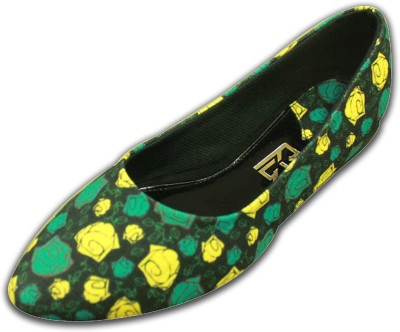 F-Gali Customized Roses Ballerinas Bellies For Women(Multicolor