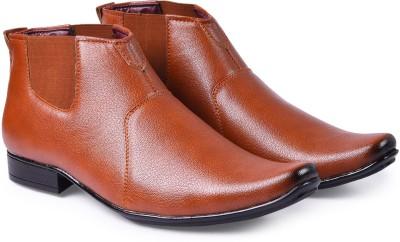 Andrew Scott Men's Tan Formal Chelsea Boots For Men(Tan)