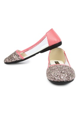 CUTE FEET Cute Feet Pink Side Transparent Bellies For Casual Purposes Bellies For Women(Pink)