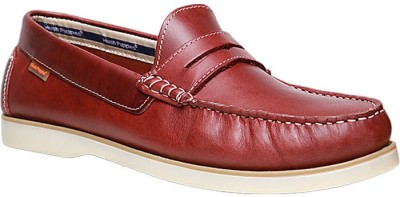 Hush Puppies By Bata Loafers For Men(Red) at flipkart