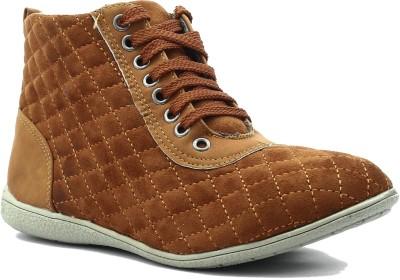 Shuberry Sneakers(Tan) at flipkart