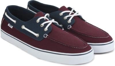 73f0becfea0b50 55% OFF on Vans CHAUFFEUR SF Boat Shoes For Men(Maroon) on Flipkart ...