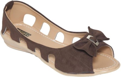 Azores AZF_UBr Peep Toe Belly For Women(Brown)
