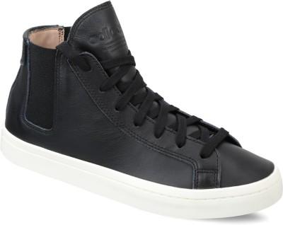 reputable site 8afaf 2ea68 47% OFF on ADIDAS ORIGINALS COURTVANTAGE SLIP MID W Sneakers For  Women(Black) on Flipkart  PaisaWapas.com
