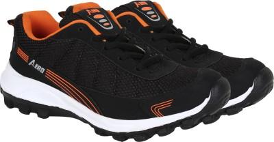 Aero Power Play Running Shoes For Men(Black, Orange)  available at flipkart for Rs.399