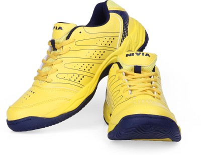 Nivia Zeal Tennis Shoes For Men(Yellow)  available at flipkart for Rs.1499