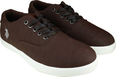 9ee70ea93871 55% OFF on U.S. Polo Assn Nathan Sneakers For Men(Brown) on Flipkart ...