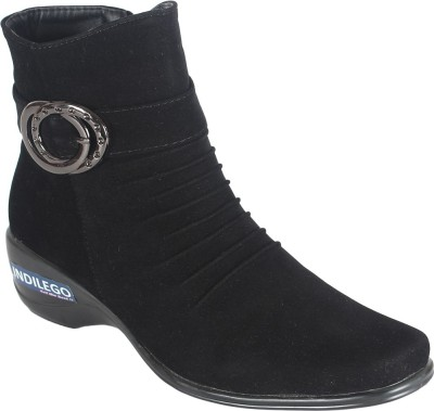 Indilego Boots For Women(Black)