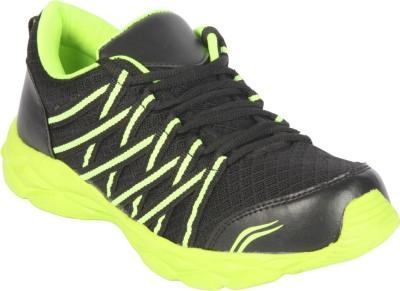 Corpus Density Running Shoes For Men(Black, Green)  available at flipkart for Rs.399