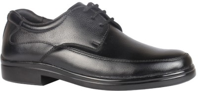 Leather King Aiden Black Lace Up For Men(Black)