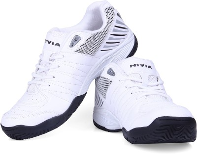 Nivia Rapid Tennis Shoe Tennis Shoes For Men(White)  available at flipkart for Rs.1179