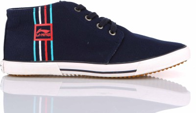 Li-Ning ZONE Mid Ankle Sneakers For Men(Navy) at flipkart
