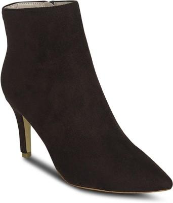 Get Glamr Pointed Zipper Boots(Brown) at flipkart