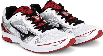 Mizuno Wave Emperor Tr Wide Running Shoes(White, Black, Red) at flipkart