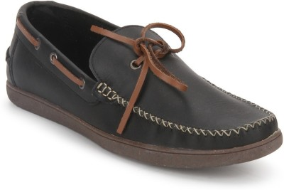 A by Arden Quody Boat Shoes For Men(Black)
