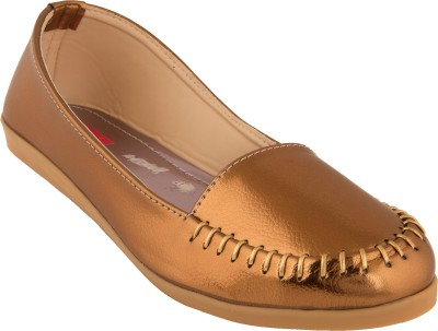 Footrendz Evening Wear Loafers For Women(Gold, Copper