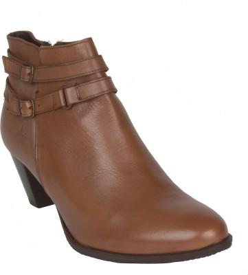 Salt N Pepper 14-616 Taupe Boots For Women(Brown) at flipkart