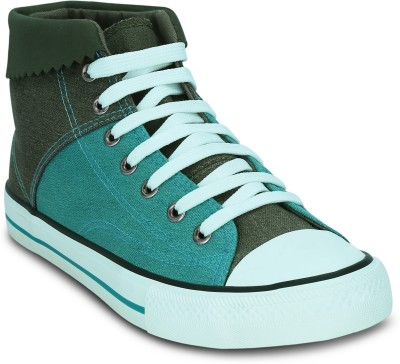 Get Glamr BOBBY Sneakers(Green) at flipkart